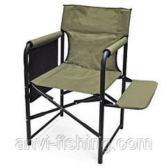 """Кресло раскладное Ralf """"Режиссер"""" с полкой ткань - Хаки"""