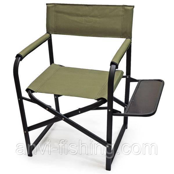 """Крісло розкладне """"Режисер"""" Гігант з полицею дерево"""