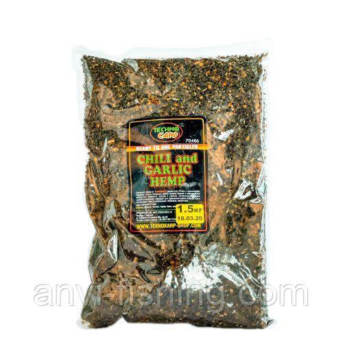 Технокарп Hemp Seed + Chili, Garlic (готова коноплі+перець, часник) 1,5 кг