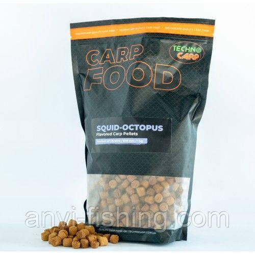 """Пелети Технокарп Flavored Carp Pellets """"Squid Octopus"""" 10 мм"""