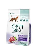 Сухий корм з ефектом виведення шерсті для котів Optimeal, з качкою 300 грам