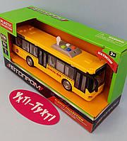 Автопром Автобус батар.,открываются двери, свет, звук, в коробке 32*11*16.5 см 7948AB, фото 1