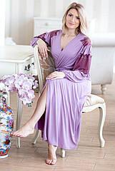 Комплект халат та сорочка у ліловому кольорі, віскоза. ТМ Shato. L