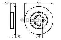 Тормозной диск передний  Ауди 500/ 100/ 80/ 90 (пр-во BOSCH 0986478016)