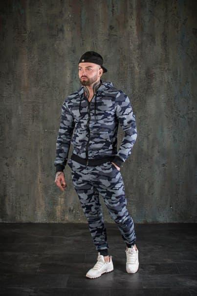 Мужской спортивный костюм комуфляж топ качество