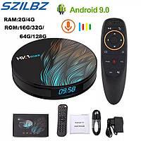 Android 9.0 Smart TV box, андроид ТВ-приставка, медиаплеер для телевизора, тюнер, смарт бокс ULTRA HD HK1 max