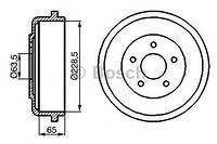 Тормозной барабан  Форд CAPRI/ CORTINA/ CORTINA 80/ CORTINA Estate 80/ CORTINA Estate (пр-во BOSCH 0986477129)