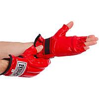 Снарядні рукавички шингарты шкіряні Everlast 01044 Red розмір M