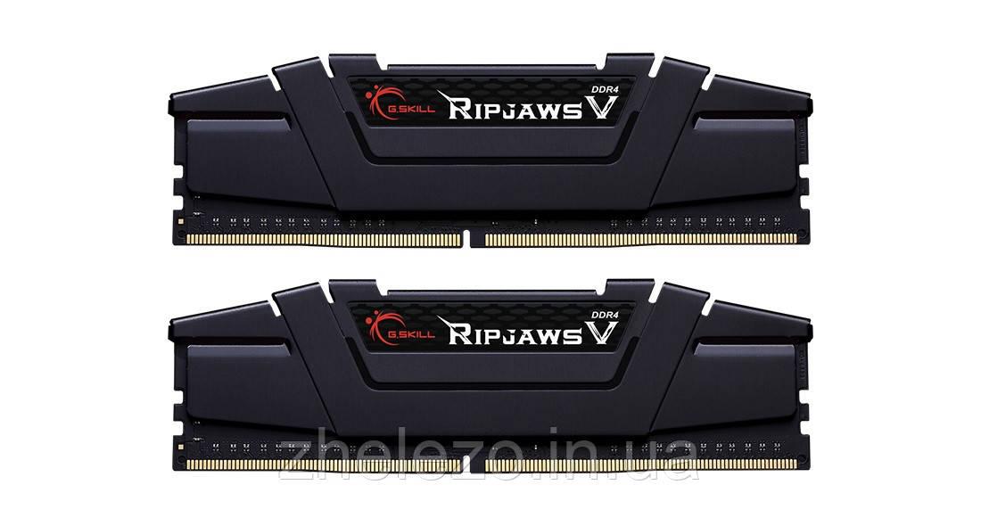 Модуль пам'яті DDR4 2x8GB/3200 G. Skill Ripjaws V Black (F4-3200C16D-16GVKB)