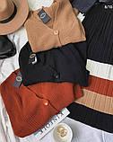 Жіноча кофта в'язана на гудзиках оверсайз, фото 5
