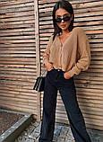 Жіноча кофта в'язана на гудзиках оверсайз, фото 6