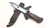 ММГ штик ніж клинковый 6x4 до АКМ і АК-74 (бакеліт рукоять,піхви), фото 3