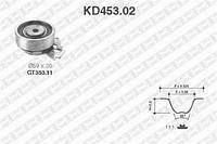 Комплект ГРМ (ремінь і ролики) Деу Опель (пр-во SNR KD453.02)