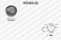 Комплект ГРМ (ремень и ролики)  Форд C-MAX/ COURIER/ FIESTAV/ Фокус/ Фокус C-MAX/ Фокус Clipper (пр-во SNR