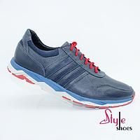Кожаные мужские кроссовки стильного дизайна