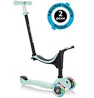 Самокат Globber Go Up Sporty Lights 4in1 Pastel Green (мятный)