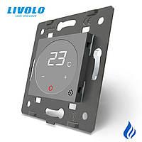 Механізм терморегулятор Livolo для водяних систем опалення сірий (C7-01TM3-15)