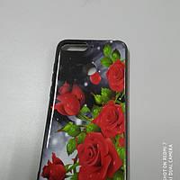 Силиконовая накладка Huawei y 6 2018 рози, фото 1