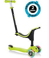 Самокат Globber Go Up Sporty Plus Lights 4in1 Lime Green (салатовый), фото 1