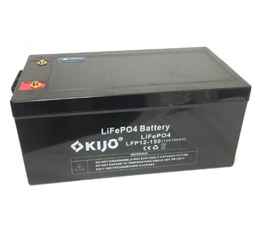 Акумулятор Kijo FePO4-12V150Ah Lithium Iron Phosphate, 2000 циклів, літій-залізо-фосфатна АКБ без послідовного з'єднання