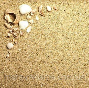 Виниловый фон (фотофон) студийный для предметной съемки. Песок с ракушками