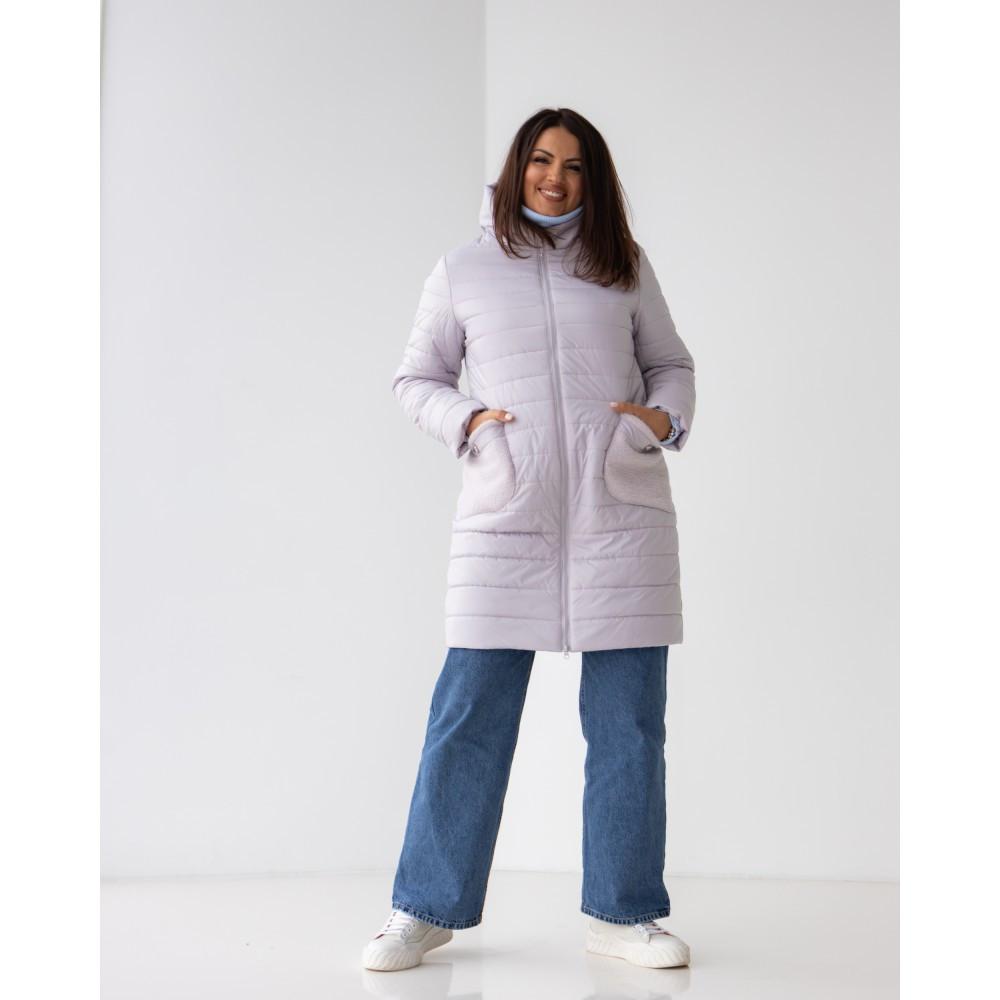 Демисезонная женская удлиненная куртка больших размеров