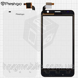 Touchscreen (сенсорный экран) для Prestigio MultiPhone 3450 Duo, белый, оригинал
