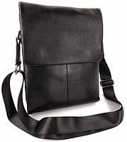 Кожаная мужская сумка-планшет 22,5х29х8см Черная