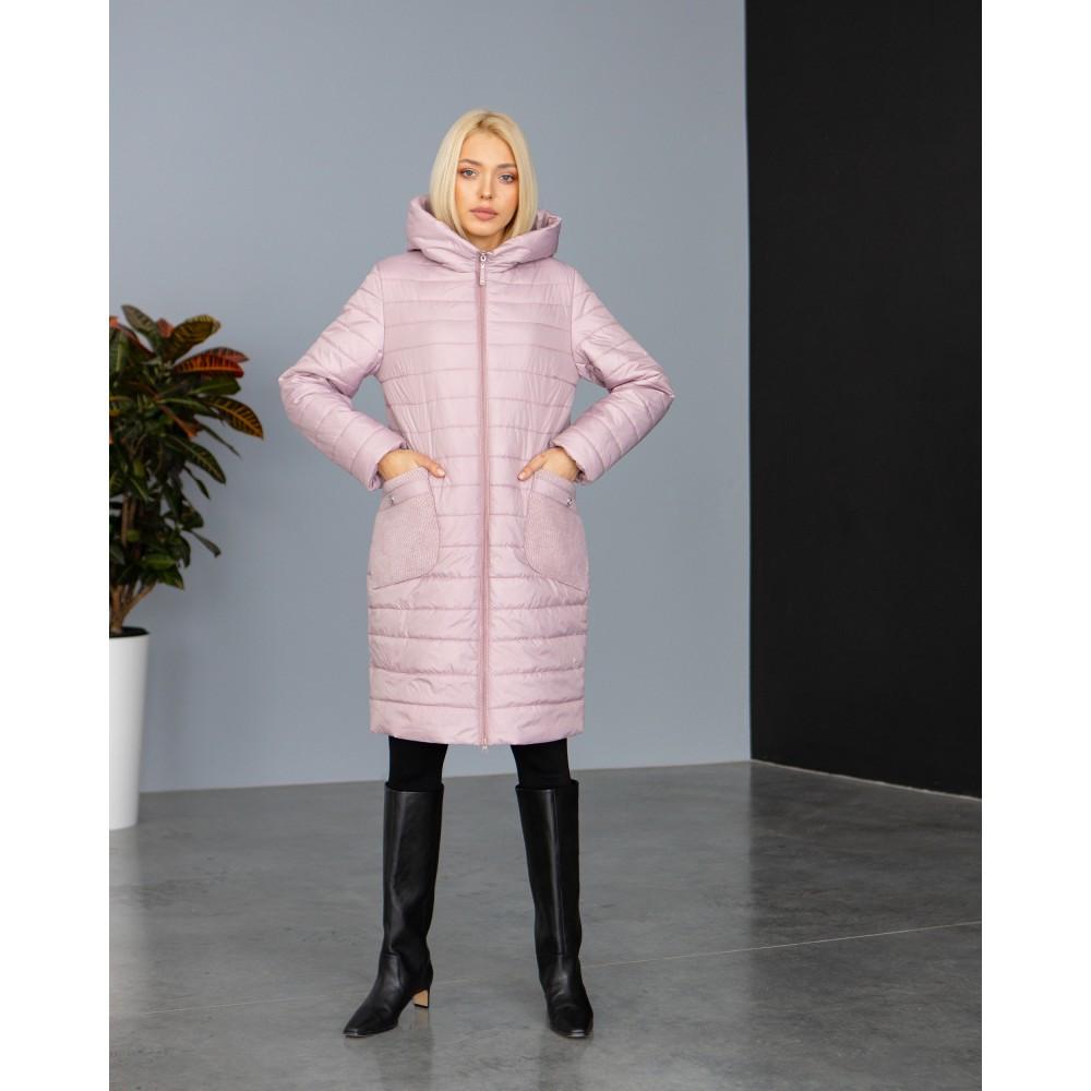 Брендовая женская удлиненная куртка больших размеров