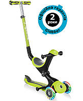 Самокат Globber Go Up Deluxe Lights 5in1 Lime Green (салатовый)
