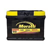 Автомобильный аккумулятор MORATTI 6ct-60a3L