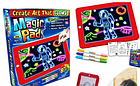 ОПТ Дитяча Дошка для малювання Чарівна дошка Magic Pad в наборі шаблони маркери в коробці 3Д магічна, фото 2
