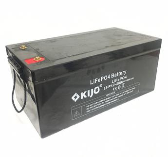 Аккумулятор Kijo FePO4-12V200Ah Lithium Iron Phosphate, 2000 циклов, АКБ без последовательного соединения