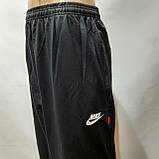 Спортивные штаны прямые (Супер большие размеры) в стиле Nike трикотажные черные 62,64,66,68,70 р, фото 5