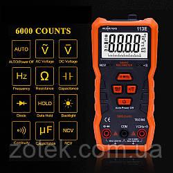 Richmeters RM113E Мультиметр автомат True RMS NCV 6000 отсчетов фонарик магнит