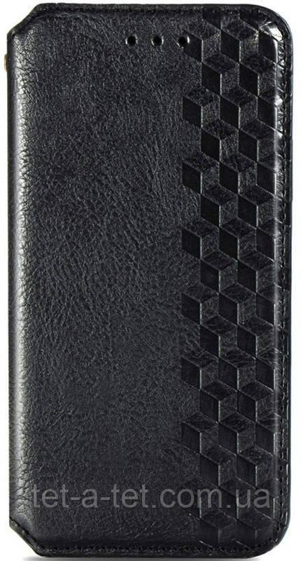 Шкіряний чохол-книжка GETMAN Cubic для Samsung Galaxy A52 Black