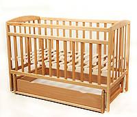 Детская кровать VALERI на шарнирах с ящиком на подшипнике 60 на120 см бук
