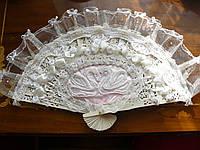 Свадебный веер, ручная работа, эксклюзивные аксессуары для невесты