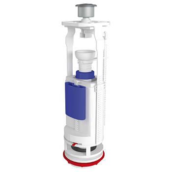 Арматура ANI Plast WC7050M двухуровневая без клапана, хромированная кнопка