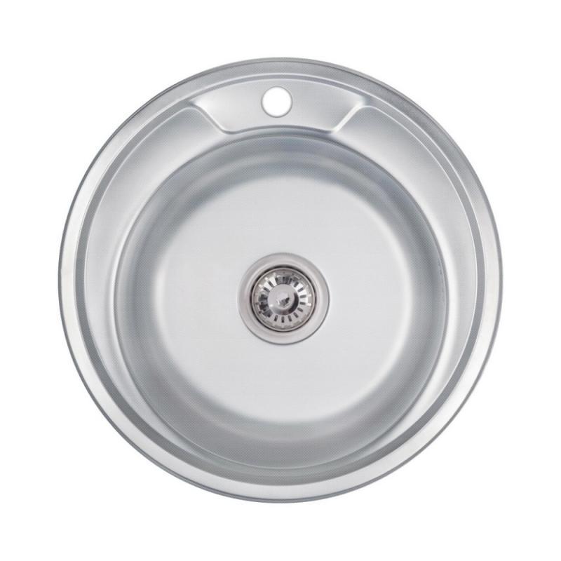 Кухонна мийка Lidz 490-A Decor 0,6 мм (LIDZ490А06DEC)