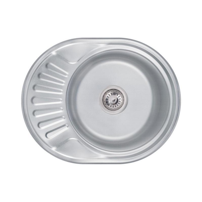 Кухонна мийка Lidz 5745 Decor 0,6 мм (LIDZ574506DEC)
