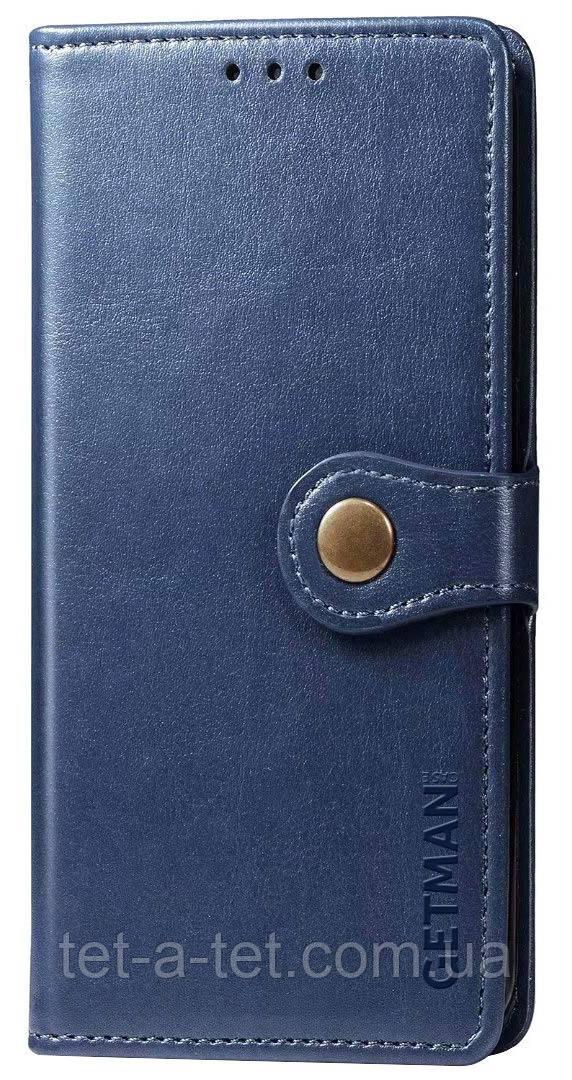 Кожаный чехол-книжка GETMAN Gallant  для Samsung Galaxy A52 Blue