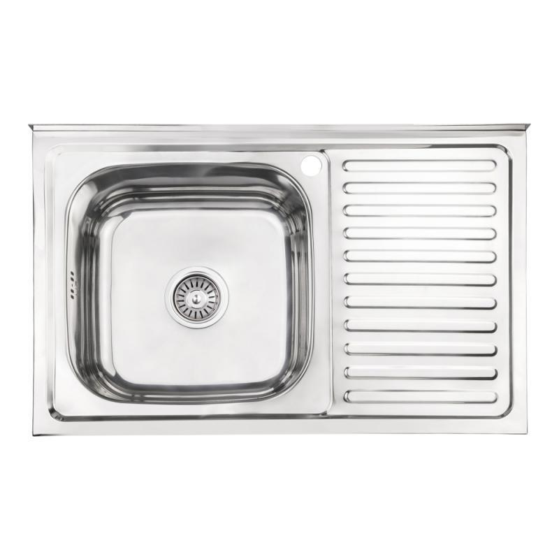 Кухонная мойка Lidz 5080-L Polish 0,8 мм (LIDZ5080LPOL08)