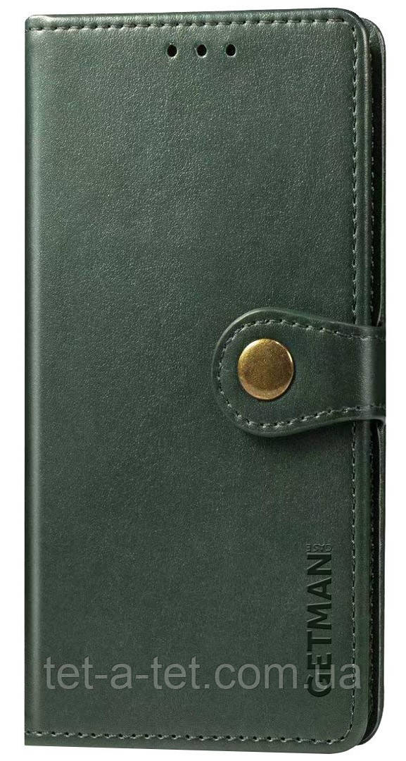 Шкіряний чохол-книжка GETMAN Gallant для Samsung Galaxy A52 Green
