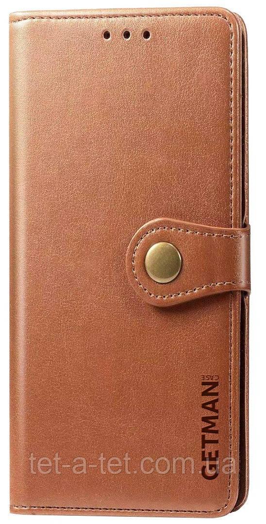 Кожаный чехол-книжка GETMAN Gallant  для Samsung Galaxy A52 Brown