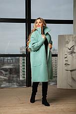 Женское стильное пальто из альпаки, фото 3