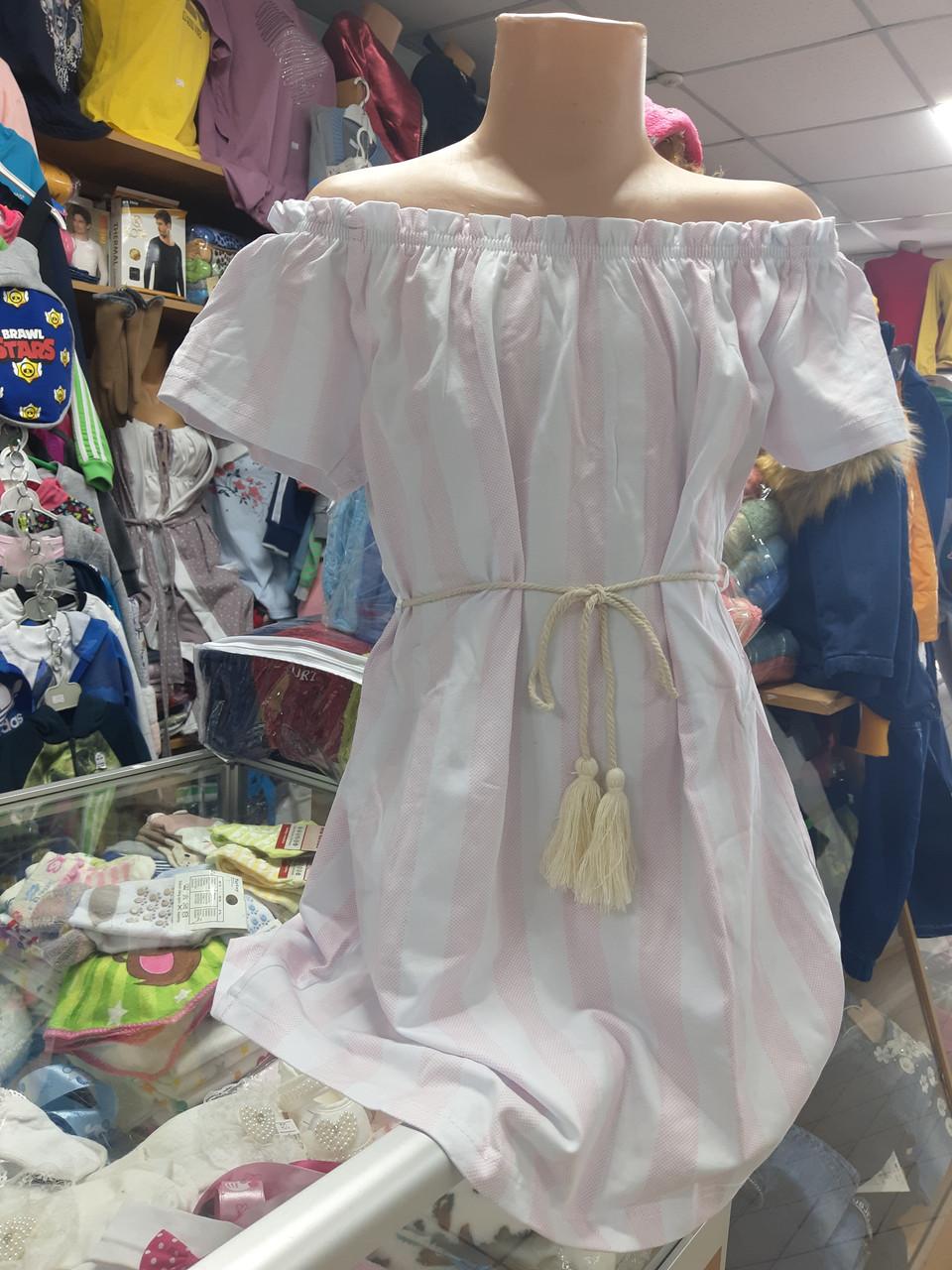 Детское летнее платье сарафан для девочки р.122 128 134 140