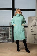 Женское стильное пальто из альпаки, фото 2
