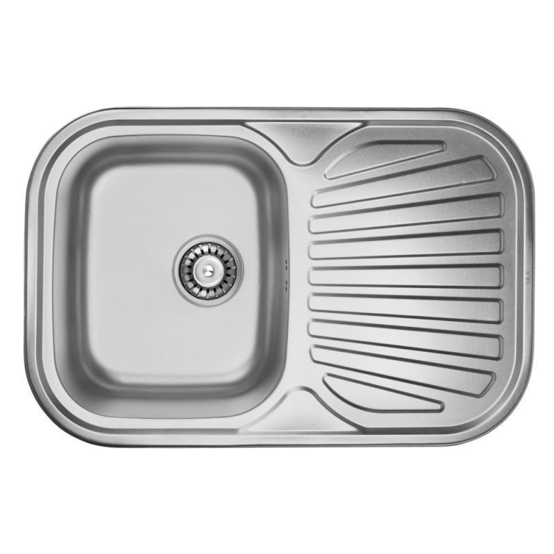 Врезная мойка для кухни из нержавеющей стали ULA 7707 ZS Micro Decor 08 (7448 )