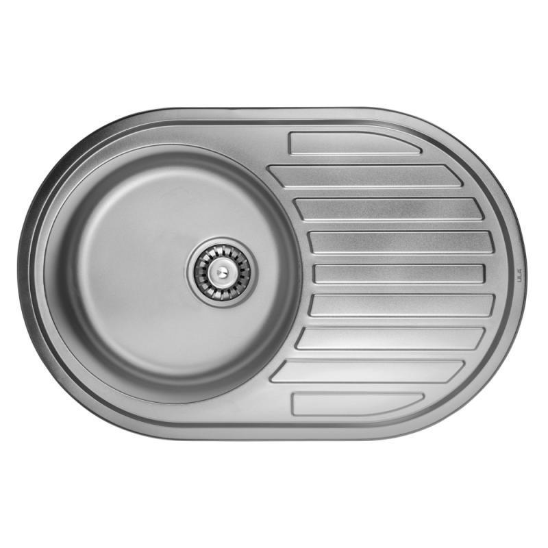 Врезная мойка для кухни из нержавеющей стали ULA 7108 ZS Satin 08 (7750 )